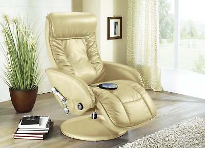 Massagesessel Relaxsessel TV Sessel Fernsehsessel Ruhesessel Creme / Beige 16226
