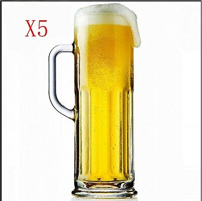New 5X Capacity 621ML Height 229MM Transparent Large Beer Wine Glass/Glassware %