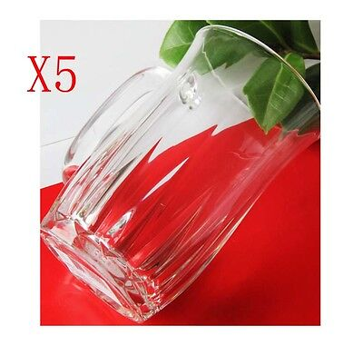 New 5X Capacity 420ML Height 135MM With A Handle Beer Wine Glass/Glassware %