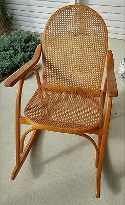 Vintage | Vermont Tubbs Caned Bentwood Rocking Chair | Mid Century rocker