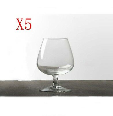 New 5X Capacity 410ML Height 130MM Transparent Brandy Wine Glass/Glassware %
