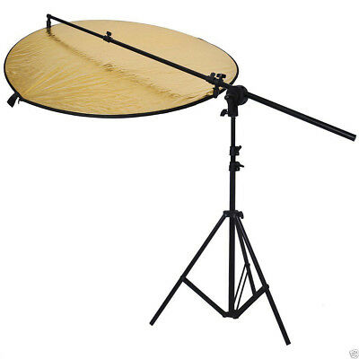 Kit Photography Collapsible Disc+ Reflector 5 In1+Stand Boom Arm Easy Setup
