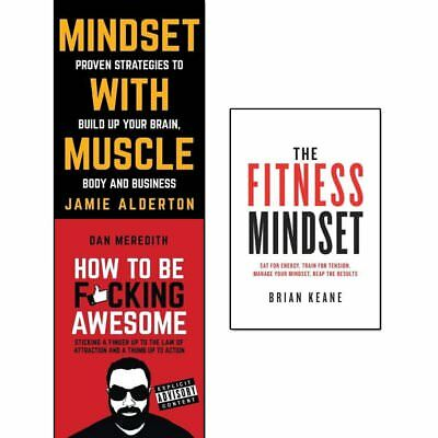 Mindset With Muscle, How To Be Fucking Awesome, Fitness Mindset 3 Books Set NEW