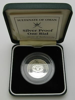 OMAN 1 Omani Rial ND(1995) Proof - Silver - F.A.O. 50 Years.