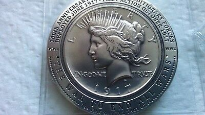 1917 Peace Dollar High Relief 2 ounce Daniel Carr Moonlight Mint POLISHED
