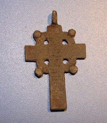 Ancient BRONZE BIG Cross Middle Ages. RARE. Оriginal