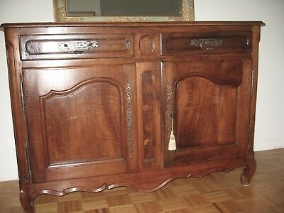 Antique French Walnut Buffet Sideboard - Louis XV - 1760s - 18th Century
