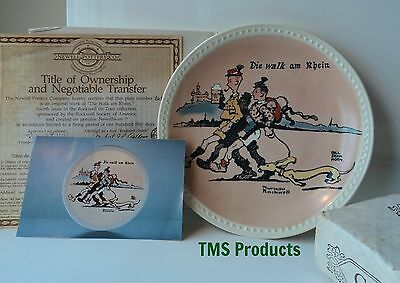 Norman Rockwell On Tour Die Walk am Rhein Collector Plate Limited Edition MIB