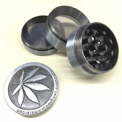 Tobacco Herb Spice Grinder 4 Piece Herbal Alloy Smoke Metal Chromium Crusher 1PC