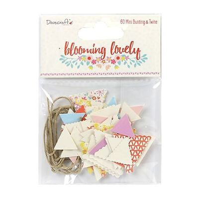 Dovecraft Blooming Lovely Easter/Spring Paper Craft Collection - Bunting + Twine
