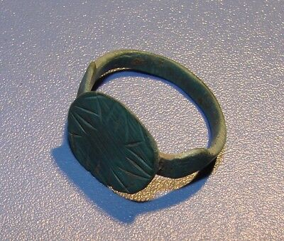 Ancient Bronze Patina ring. Middle Ages. Original