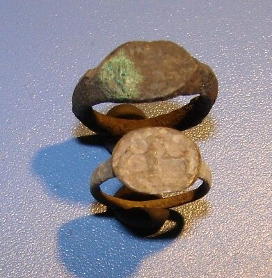 Ancient Bronze  rings childish. Middle Ages. Original.