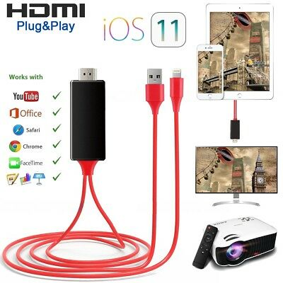 2M Lightning auf HDMI Adapter Kabel Digital AV HDTV für iPhone7 6 6S X 5C iPad