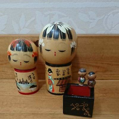 Antique Folk Art Crafts Kokeshi Japan retro antique popular beautiful EMS F/S!