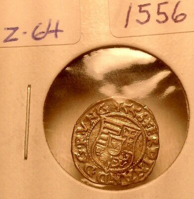 1556AD silverMedieval Coin of Madona and child in Great shape