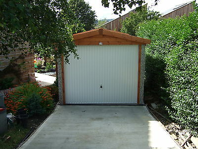 """Concrete Garages Apex 16Ft1""""x 8Ft3"""" Fitted In Postcodes Hu.dn.wf.ls."""