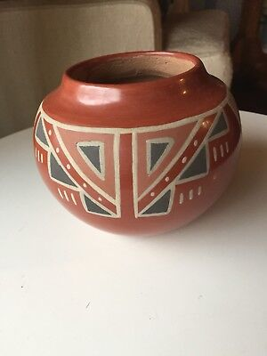 Pueblo San Ildefonso Style Red ware Art Pottery Native American