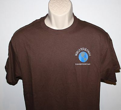 World Poker Finals Foxwoods Resort Casino Men's Medium T Shirt-World Poker Tour