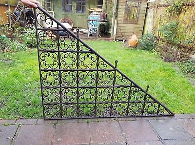 Moroccan Hand Forged Iron Mesh Grill Stairwell Screen Architectural Antique