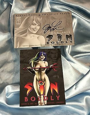 Sinful Suzy~Promotional Art Card~Sin Boldly~Signed By Joe Linsner~Cry For Dawn~