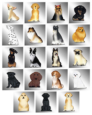 25 Flat Mixed Dog Magnets! Wholesale Lot! Great For Vets, Petstores Or Gifts?