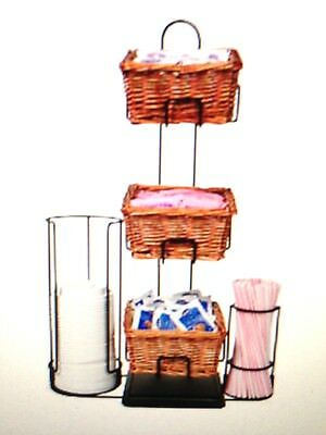 3-Tier 3 Square Willow Basket Counter Display