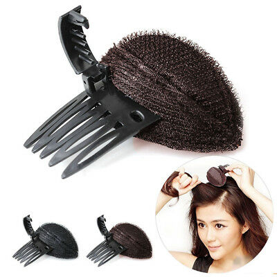 Forehead Hair Volume Fluffy Puff Sponge Pad Clip Comb Insert Base DIY Styling