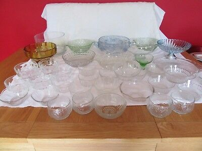Job lot Vintage Glass  Bowls & dishes,large & small , Vintage  Wedding/Party