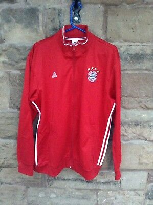 Brand New With Tags Bayern Munich FC 2017/18 Adidas Tracksuit Top Red XL