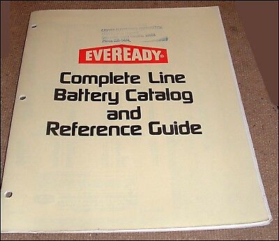 Vintage Eveready Battery Catalog Reference And More Paper Items