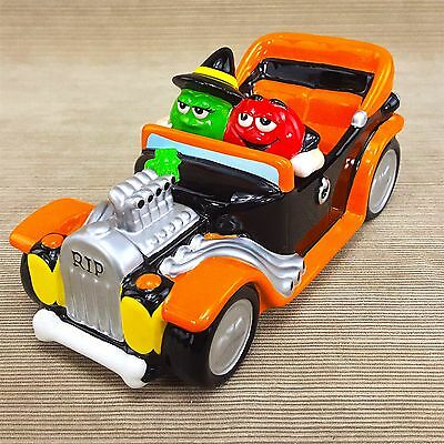 mm halloween ceramic orange hotrod car candy dish 8 figurine green witch