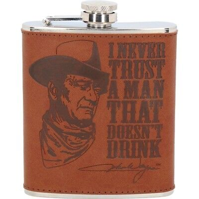 John Wayne Hip Flask 7oz
