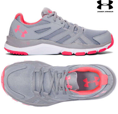 Under Armour STRIVE 6 Womens Running Shoes Grey White 1274416-035 NEW