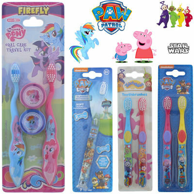 Toothbrush Flash Club Kid Teeth Flashlight Peppa Pig Oral Care Star Wars Light