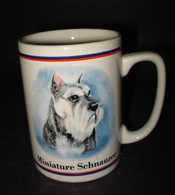 Vintage MINIATURE SCHNAUZER CERAMIC COFFEE MUG TEA CUP Papel Maystead Portraits