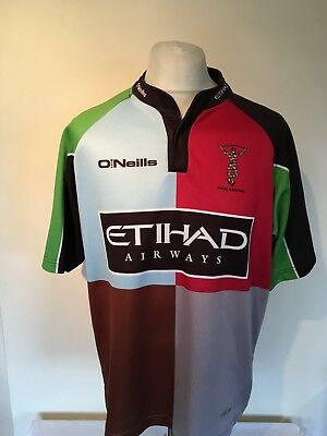 Harlequins 2011-13 Rugby Union Home Shirt Large Mens O'Neills Quins