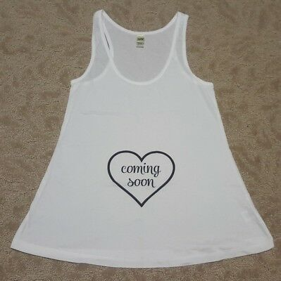 Coming soon tank top pregnancy announcement tank top size S
