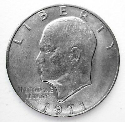 1971-P Eisenhower Dollar US Coin - VG to AU or Better - No Reserve!!