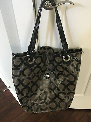 Black Coach Tote Or Diaper Bag
