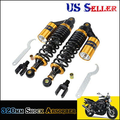 "Pair 320mm 12.5"" Air Shock Absorbers for Honda TRX250R 450R 400ER Quad Go Kart"