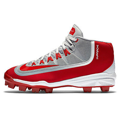 New Nike Huarache 2k Filth Pro Mid MCS Mens Baseball Cleats Plastic - Red / Gray