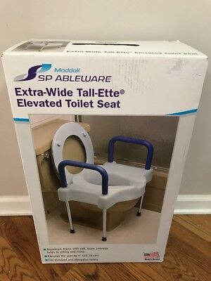 SP Ableware Tall-Ette Elevated Toilet Seat Extra Wide Seating Surface and Legs