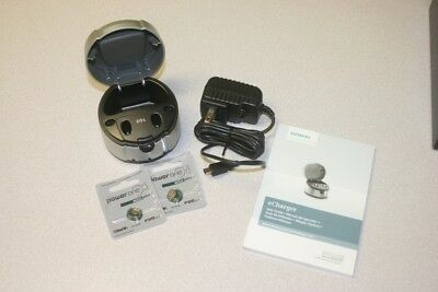 New Siemens Hearing Aid Charger 312 with 2 Rechargeable Batteries