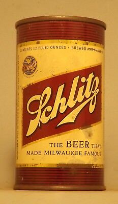 Rare Indoor Withdrawn Free Schlitz Flat Top Beer Can - Milwaukee, WI
