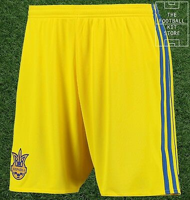 Ukraine Home Shorts - Official adidas Football Shorts - Mens - All Sizes