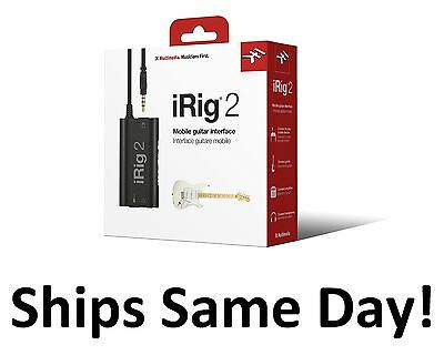 New IK Multimedia iRig 2 Guitar Interface to Record on Apple / Android!