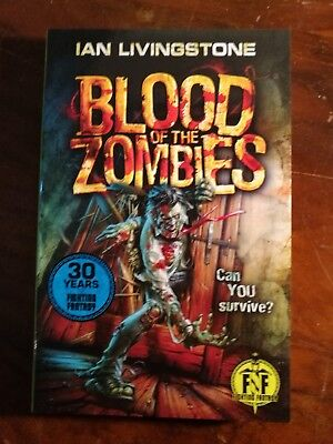 Blood of the Zombies Fighting Fantasy Ian Livingstone Brand New Wizard Series 2