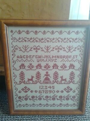 Antique Framed Early American Sampler