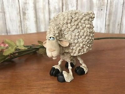 Blossom Bucket~ Curly SHEEP BOBBLE Body by Douglas Figurine