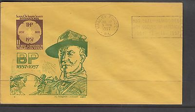 UNITED STATES 1957  STAMPLESS  *Boy Scouts Scouts on Stamps Society